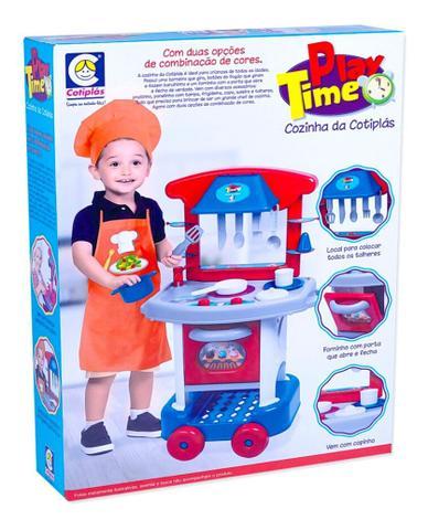 Imagem de Brinquedo Cozinha Completa C/fogão Infantil Menino Play Time