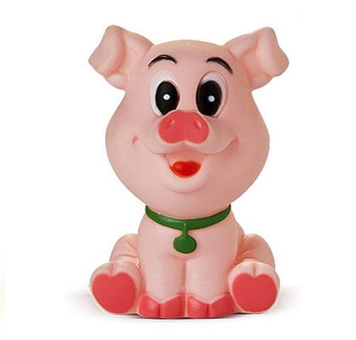 Imagem de Brinquedo de vinil para bebê a partir de 3 meses - porquinho
