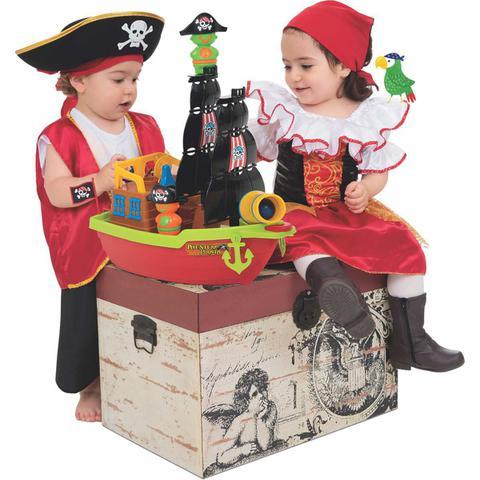 Imagem de Brinquedo Educativo Barco Aventura Pirata 43CM Mercotoys