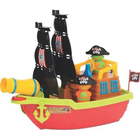Imagem de Brinquedo Educativo Barco Aventura Pirata Didatico Infantil Lança Bolinha