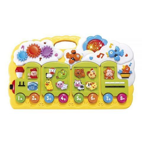 Imagem de Brinquedo Educativo Didático Trenzinho Musical Som e Luzes