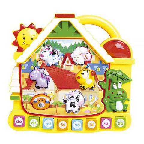 Imagem de Brinquedo Educativo Musical Didático Casinha Som e Luzes
