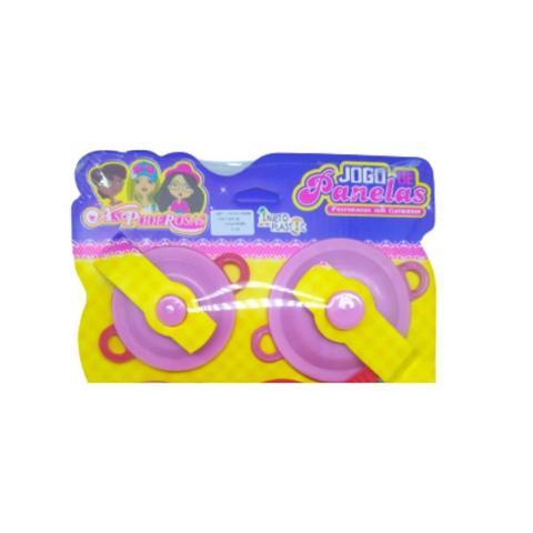 Imagem de Brinquedo Jogo De Panelas Injeto Plastic 4 Peças