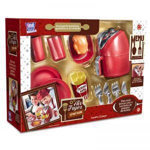 Imagem de Brinquedo Kit Air fryer + Cafeteira Expresso Kids Gourmet Linha Chef Colors 26 peças