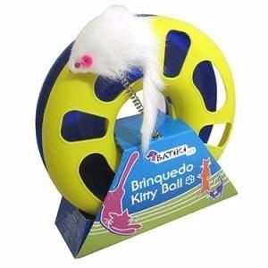 Imagem de Brinquedo Kitty Ball Com Ratinho Mola E Bolinha