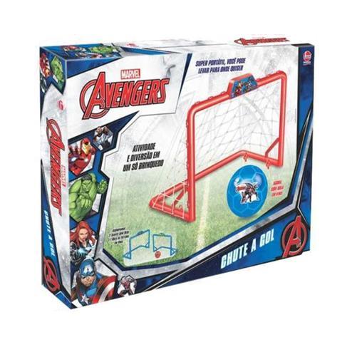 Imagem de Brinquedo Menino Futebol Gol A Gol  Avengers Vingadores 2 Traves + Bola Lider