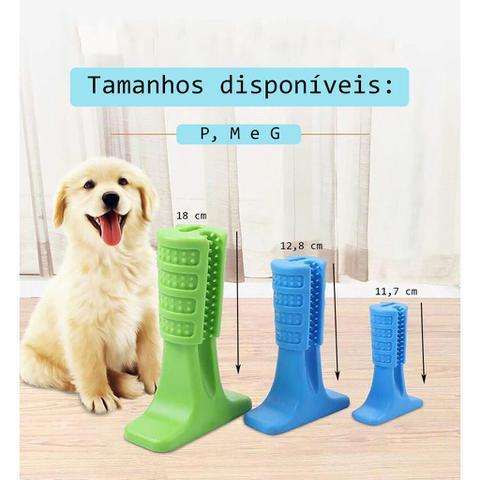Imagem de Brinquedo Mordedor Escova De Dente Higienizador Dental Cachorro Anti Stresse Pet 11cm Pequeno