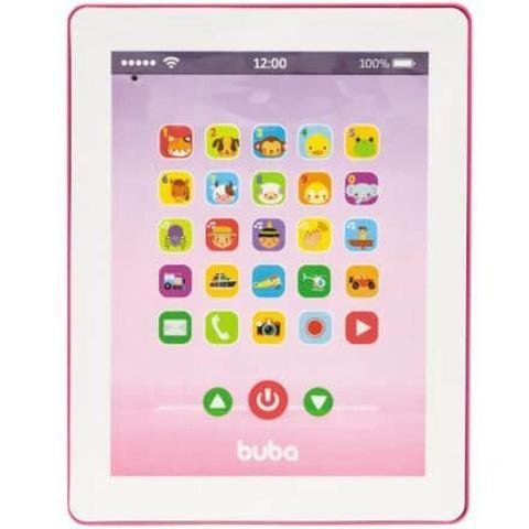 Imagem de Brinquedo Musical Buba Tablet Infantil Pink a Pilha 3AAA