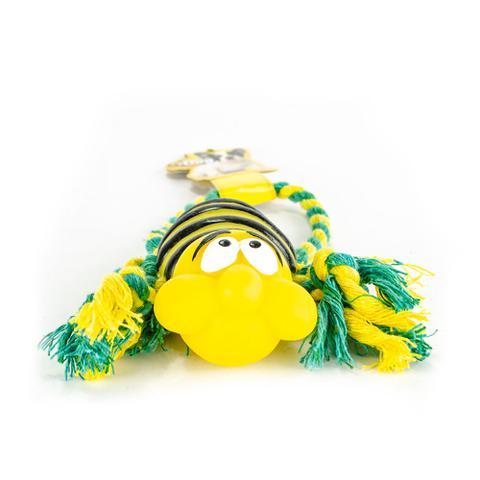 Imagem de Brinquedo para cães c/ corda  abelha mais dog