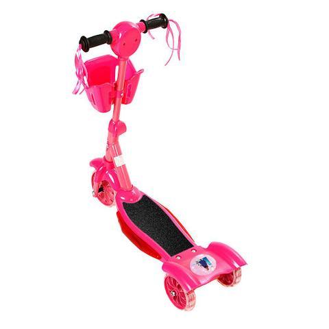 Imagem de Brinquedo Patinete Infantil Frozen 3 Rodas Com Luz E Som E Cestinha Rosa Art Brink