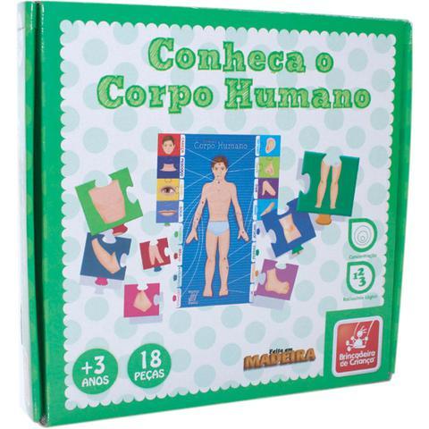 Imagem de Brinquedo pedagogico madeira conheca o corpo humano 9909