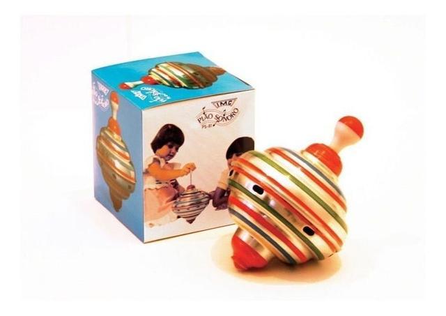 Imagem de Brinquedo Retrô Pião Sonoro De Alumínio Pequeno- Anos 80 Imc