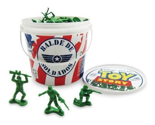 Imagem de Brinquedo Toy Story Balde Com Soldados 60 Peças Toyng