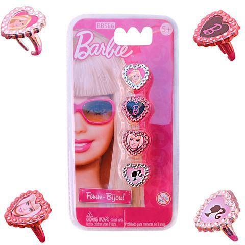 Imagem de Brinquedos Barbie Kit Acessórios 4 Anéis de Princesa