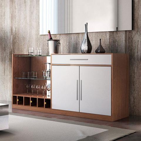 Imagem de Buffet 2 Portas 1 Gaveta Canyon Chocolate/Off White - Cel Móveis