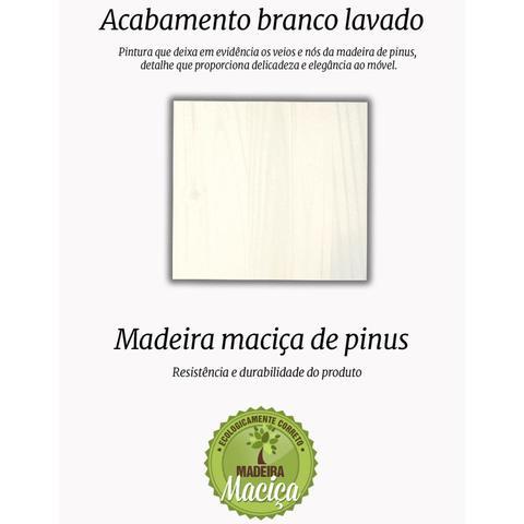 Imagem de Buffet 3 Portas 3 Gavetas Madeira Maciça Livio Inter Link Branco Lavado