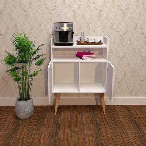 Imagem de Buffet Aparador Retrô Cantinho do Café Bangcoc Branco - Moveise