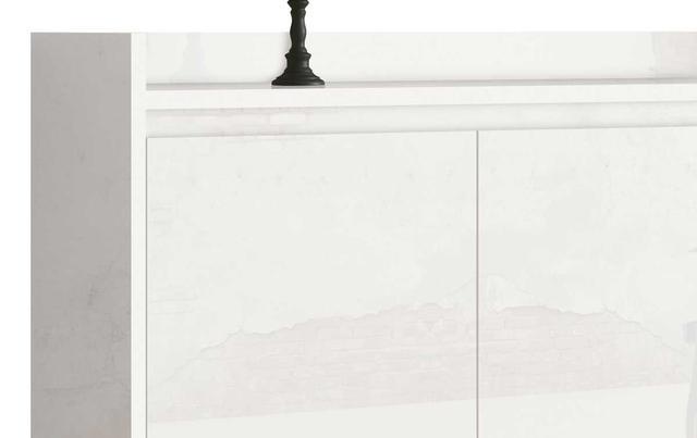 Imagem de Buffet Aparador Retrô Clássico 3 Portas Branco Gloss - MoveisAqui