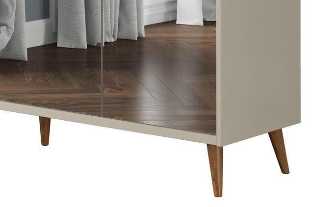 Imagem de Buffet Aparador Retrô com Espelho Delux Off White - MoveisAqui