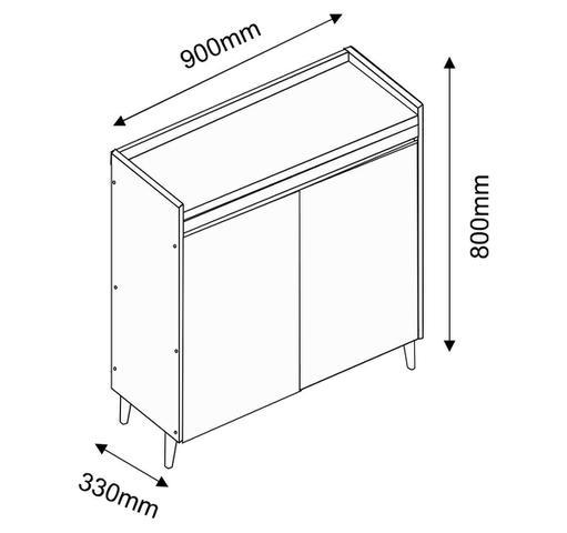 Imagem de Buffet Aparador Retrô Delux 2 Portas Branco Gloss - MoveisAqui