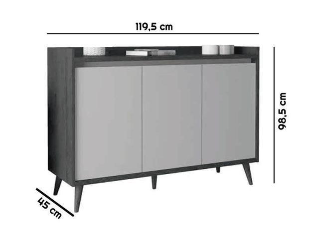 Imagem de Buffet Aparador Retrô Delux 3 Portas Off White - MoveisAqui