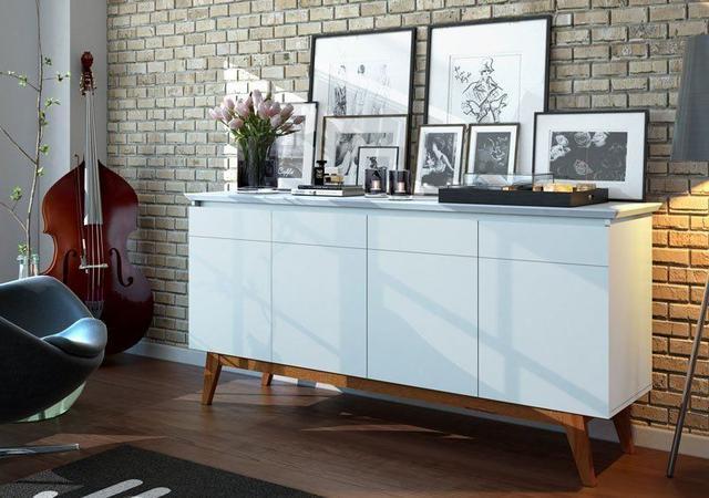 Imagem de Buffet Classic Branco Acetinado - Imcal Móveis