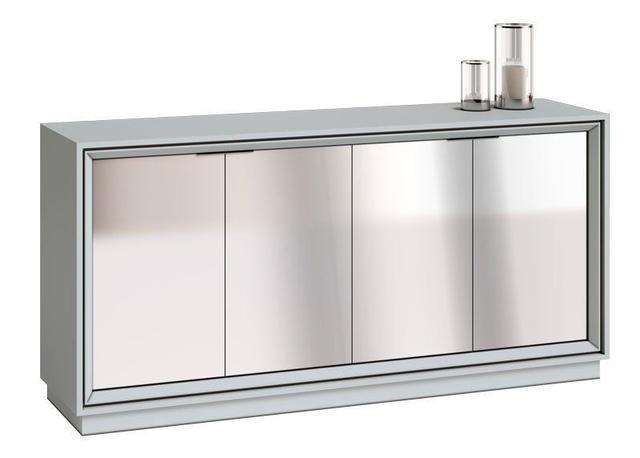 Imagem de Buffet Ópera Branco Acetinado com espelho - Imcal Móveis