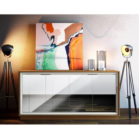 Imagem de Buffet Opera com Espelho 4 PT Off White e Freijo Touch