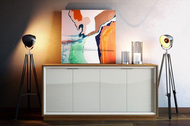 Imagem de Buffet Ópera Off White com Freijó - Imcal Móveis
