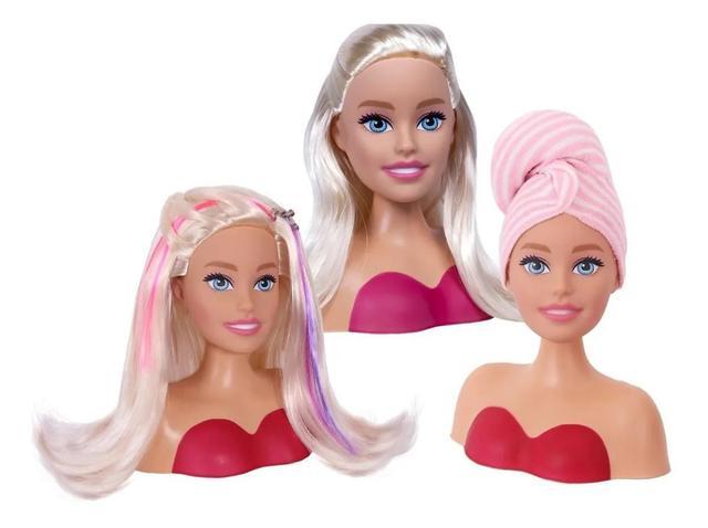 Imagem de Busto Boneca Barbie Pentear Maquiar Original Com Acessórios