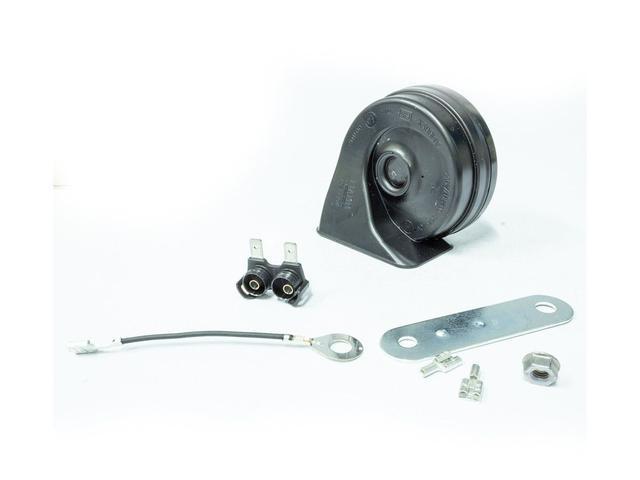Imagem de Buzina Eletrônica Caracol Universal Agudo 12 Volts 2 Pinos para Carros Motos Caminhões Com Chicote Terra - Fiamm - AM80H