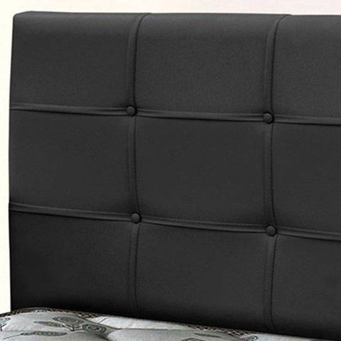 Imagem de Cabeceira casal 1.40 cm clean pvc preto - simbal