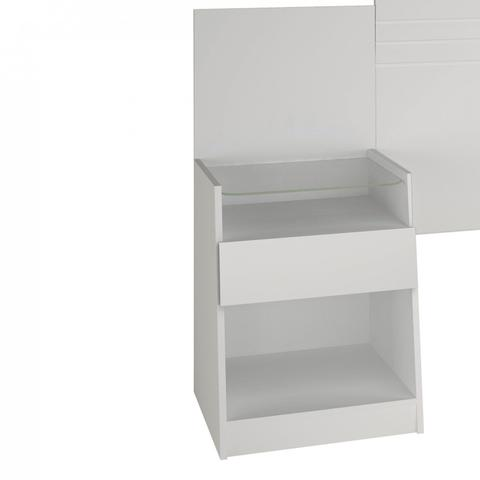 Imagem de Cabeceira Casal com 2 Criados Mudos 140cm Sion Bianchi Móveis Branco