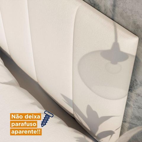 Imagem de Cabeceira Casal Estofada Uvaia MadeiraMadeira Branco