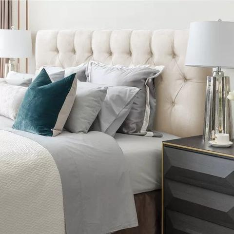 Imagem de Cabeceira casal paris para cama box 138cm estofada painel expressa móveis