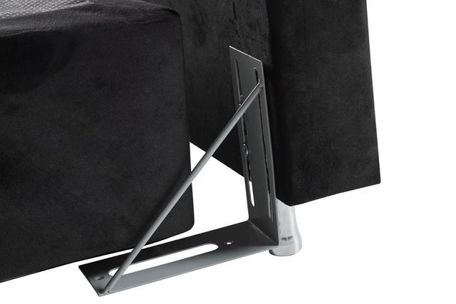 Imagem de Cabeceira Estofada Para Cama Box Queen 127x162 Veludo Preto