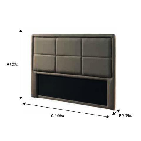 Imagem de Cabeceira Painel Box Casal 1,45m MP014 Plataforma Estofados Bege CestaPlus