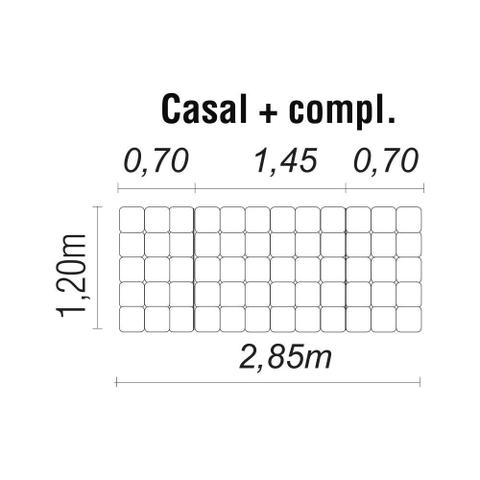 Imagem de Cabeceira Painel Box Casal 2,85m MP1806 Plataforma Estofados Bege CestaPlus