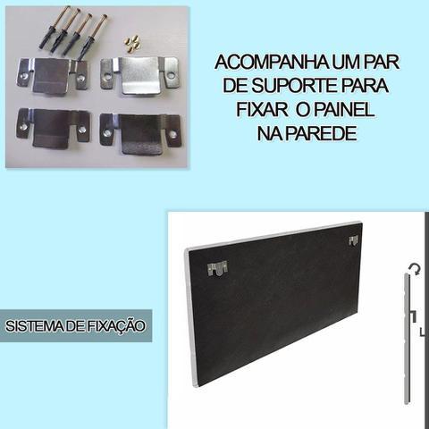 Imagem de Cabeceira Painel Nina para Cama Box Casal 1,40 cm Estofada Suede Bege
