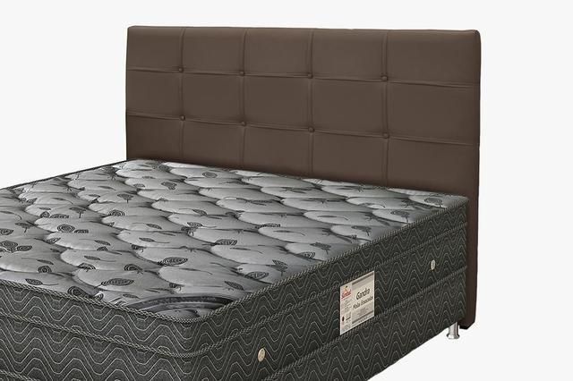 Imagem de Cabeceira Para Cama Box Casal Clean 1400mm - Suede Marrom Chocolate - Simbal