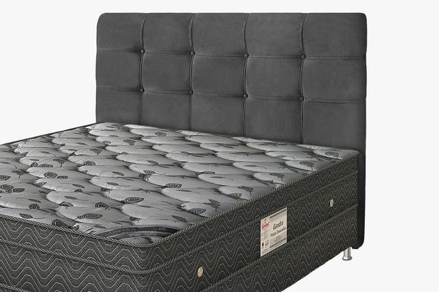 Imagem de Cabeceira Para cama Box Solteiro Clean 920mm - Suede Cinza Escuro - Simbal