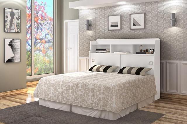 Imagem de Cabeceira Queen Size 1,60 Jéssica Branco - Cambel Móveis
