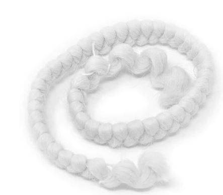 Imagem de Cabelo crepe branco de lã para bigodes falsos e Pêlos faciais