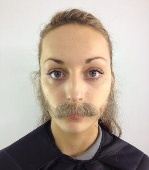 Imagem de Cabelo crepe de lã para bigodes falsos e Pêlos faciais Castanho Escuro