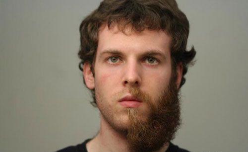 Imagem de Cabelo crepe de lã para bigodes falsos e Pêlos faciais grisalho c/ castanho
