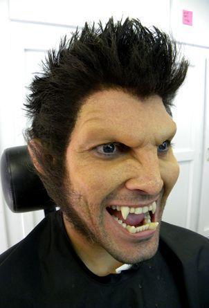 Imagem de Cabelo crepe de lã para bigodes falsos e Pêlos faciais Grisalho escuro