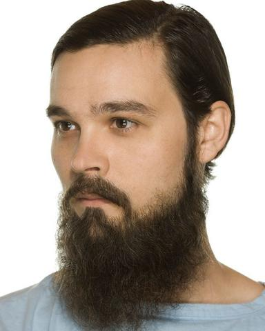 Imagem de Cabelo crepe de lã para bigodes falsos e Pêlos faciais Grisalho médio