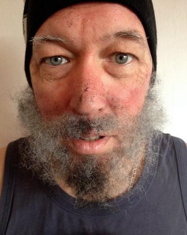 Imagem de Cabelo crepe de lã para bigodes falsos e Pêlos faciais laranja