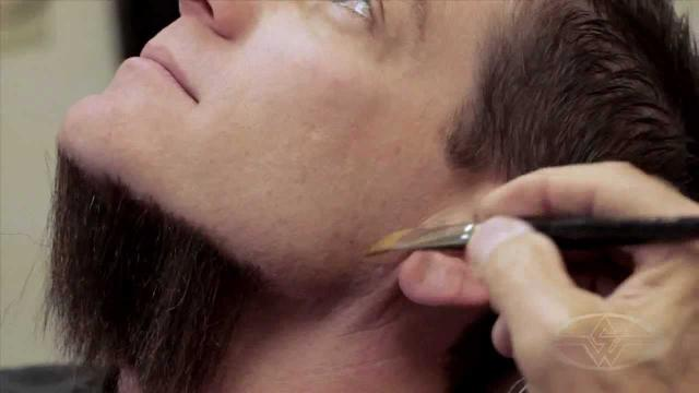 Imagem de Cabelo crepe de lã para bigodes falsos e Pêlos faciais loiro