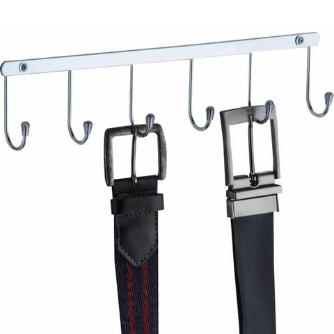 Imagem de Cabide Suporte Porta Cintos E Gravatas Em Aço Cromado Fixo